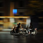 Mopeds at Night