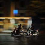 Mopeds at Night