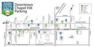 Map of Parking Downtown Chapel HIll