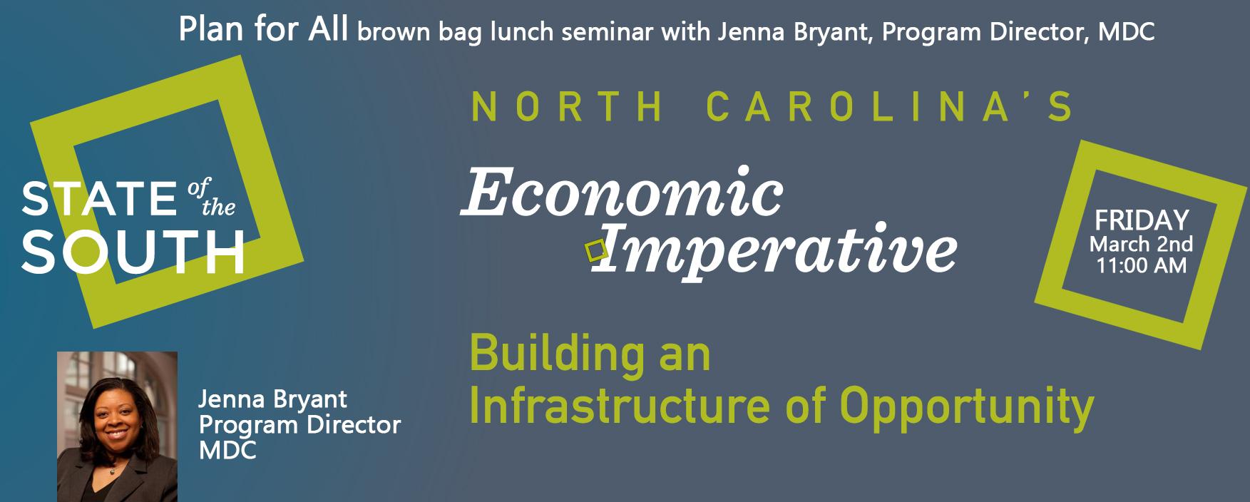 Event flyer - Jenna Bryant, MDC
