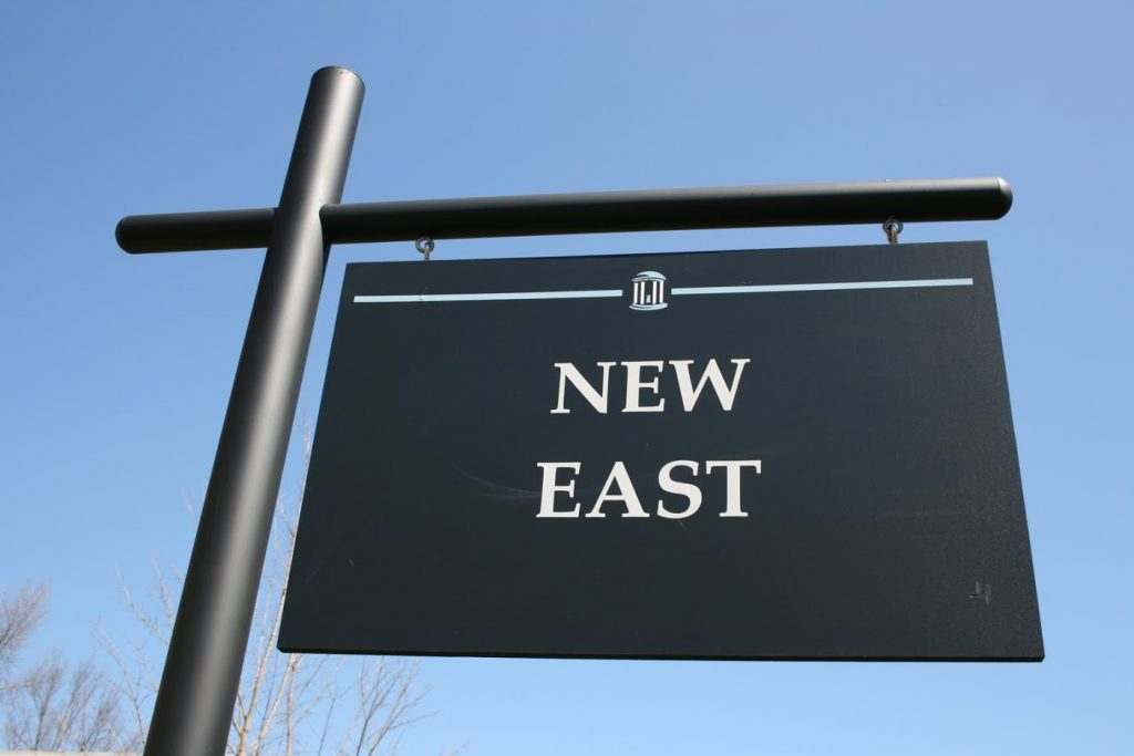 New East sign
