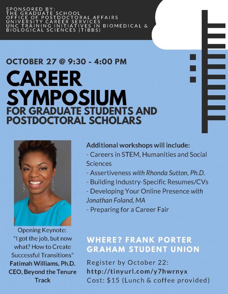 Career Symposium flyer