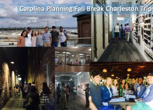 photo collage of student's fall break trip